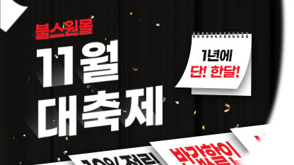 [불스원] 11월 할인 대축제