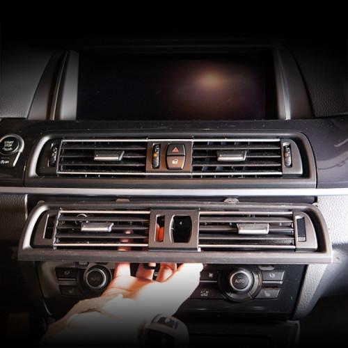 [본오토파츠] BMW F10 5시리즈 실내 에어컨 중앙센터 송풍구 교환 부품 - 세미크롬