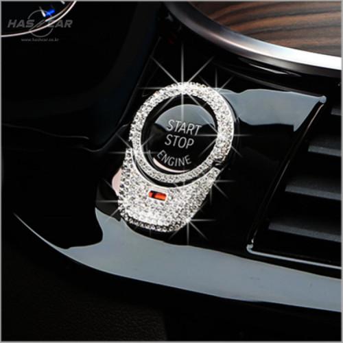 BMW 신형 스타트 버튼 큐빅 몰딩 (2p)