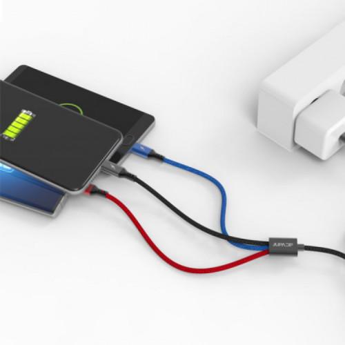 주파집 3in1 C타입 아이폰 멀티 고속 충전 케이블