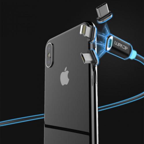 주파집 USB NEW 마그네틱 8핀 아이폰 자석 고속충전케이블