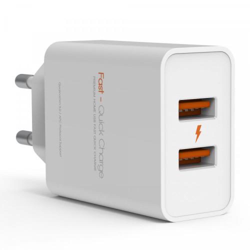 주파집 퀄컴 3.0 듀얼 고속 멀티 충전기 36W
