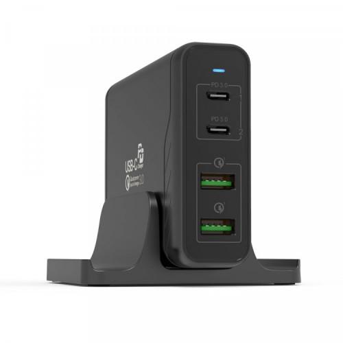 주파집 MAX 140W 듀얼 PD PPS 그램 맥북 아이패드 초고속 멀티 충전기 HC03