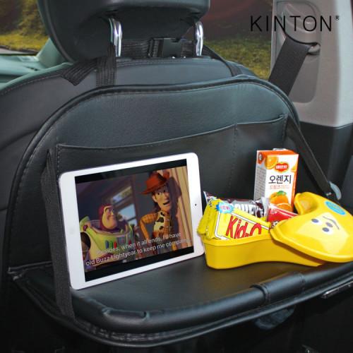 킨톤 차량용 멀티테이블 어린이 시트 포켓 블랙