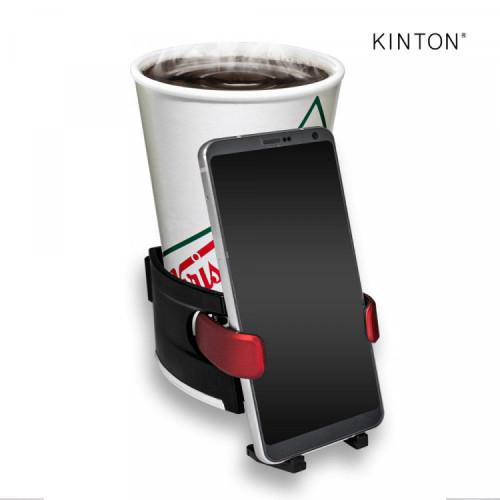 킨톤 보온 컵홀더 스마트폰 거치대 블랙